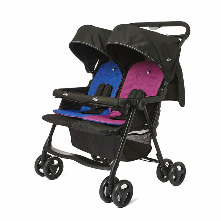 Joie aire™ twin   Lightweight Tandem Pushchair For Newborns & Toddlers